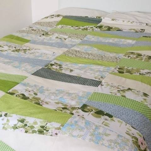 Double-bed quilt PDF pattern KEY LIME PIE