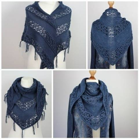 "Knitting pattern shawl ""Hippie"""