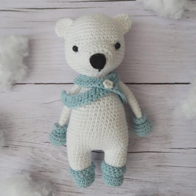 Norbert, l'ours polaire • Amigurumi au crochet