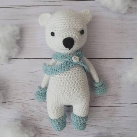 Amigurumi ours au crochet•Norbert, le petit ours polaire