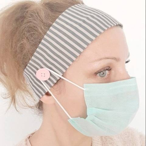 Headband with buttons for nurses