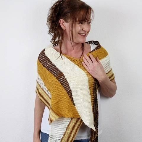 "Knitting pattern shawl ""Wendepunkte"""