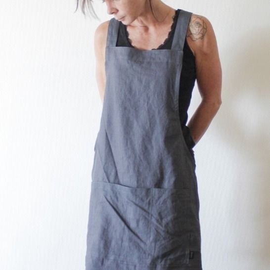 Unisex No-Tie Apron, Cross Back Apron at Makerist - Image 1