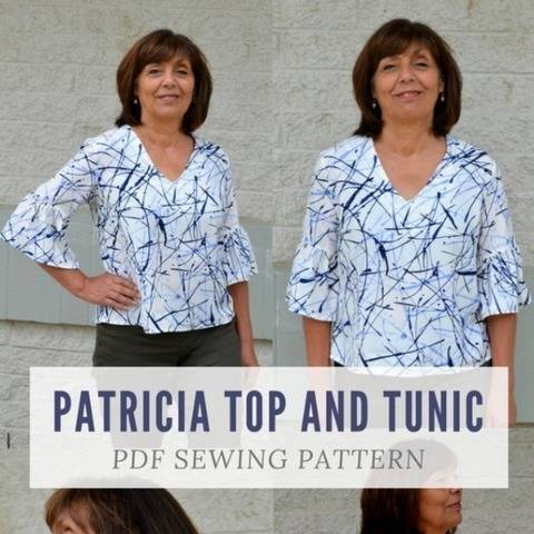 Patricia Top and Tunic PDF sewing pattern