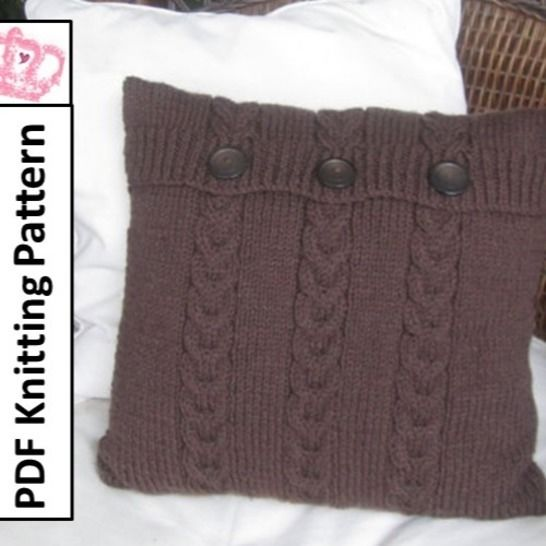 Cable cushion cover - Chocolate Buttons at Makerist - Image 1