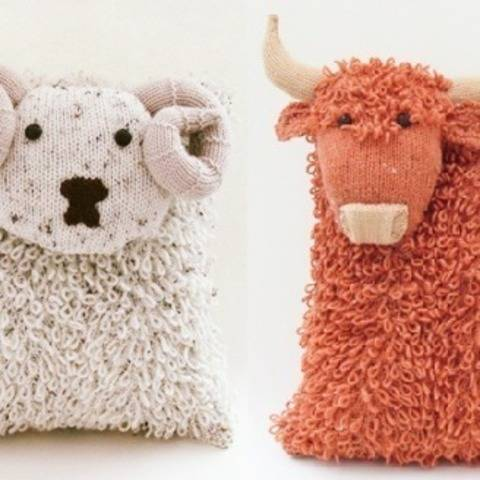 Heilan Coo & Shetland Sheep Cushion Knitting Patterns