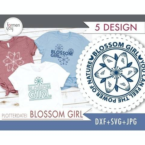 BLOSSOM GIRL - 5 Designs von formenfroh - Plotterdatei