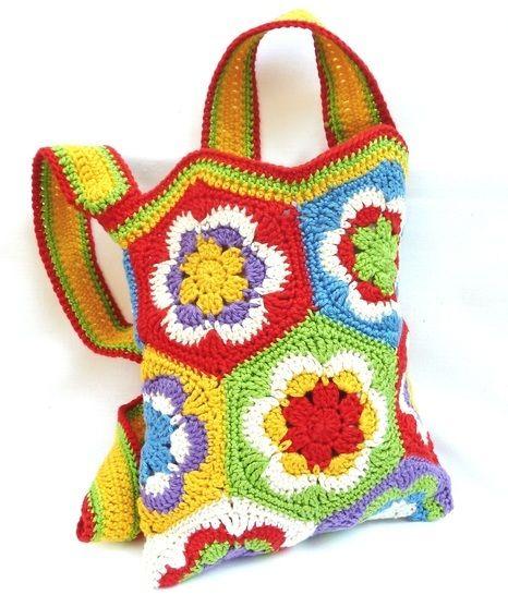 Häkelanleitung: Tasche aus Granny Square's bei Makerist - Bild 1