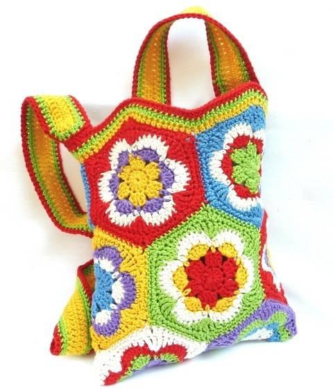 Häkelanleitung: Tasche aus Granny Square's