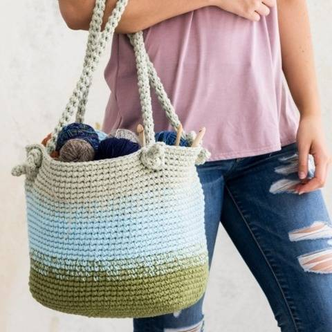 Pretty Utility Bucket Bag Knit Pattern at Makerist
