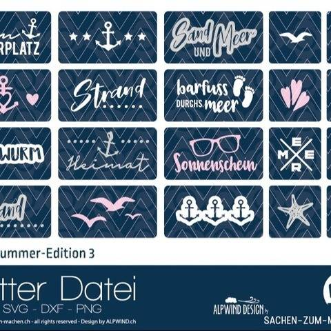 "Plotter-Datei ""Labels Summer Edition"" #3"