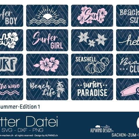 "Plotter-Datei ""Labels Summer Edition"" #1"