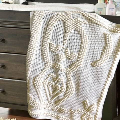 Sleepy Owl Blanket Crochet Pattern