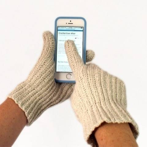 Women's Textable Gloves Crochet Pattern