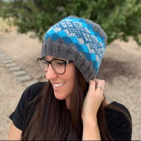 Knit Waves of Plaid Beanie Pattern at Makerist