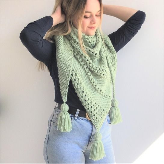 Willow Shawl- easy - aran/worsted  at Makerist - Image 1