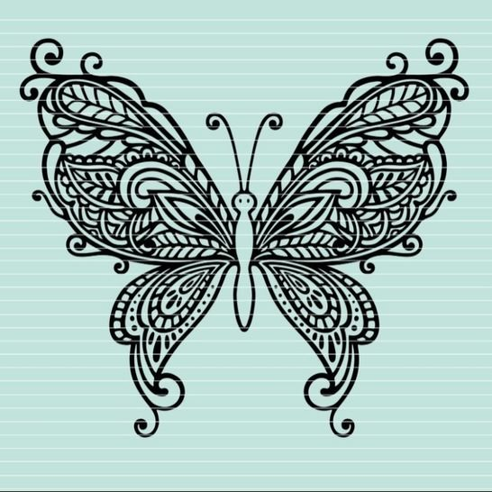 Cutting file butterfly ornaments SVG DXF at Makerist - Image 1