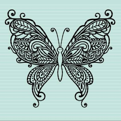 Cutting file butterfly ornaments SVG DXF