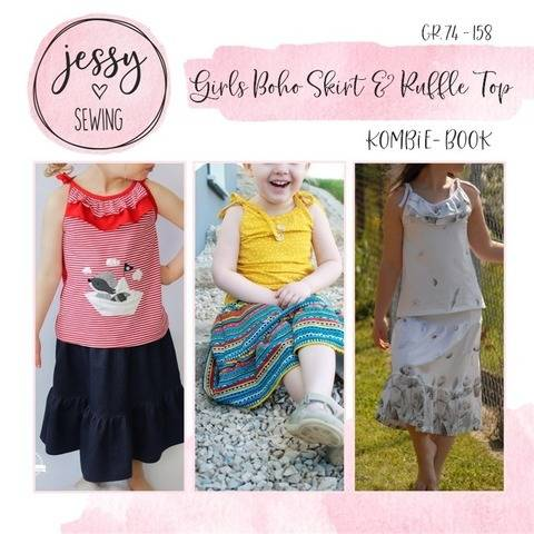 Kombi eBook *Girls Boho Skirt & Ruffle Top*
