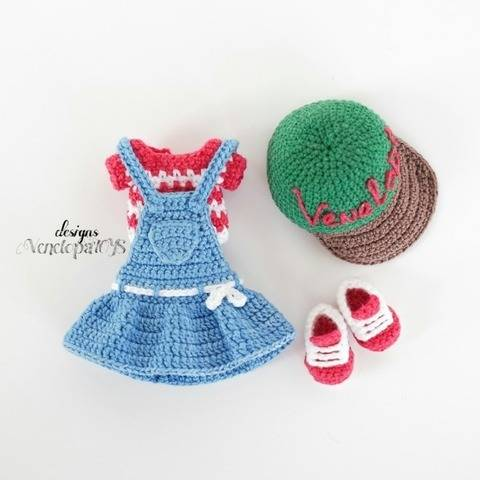 PDF Pattern Crochet Outfit for Doll