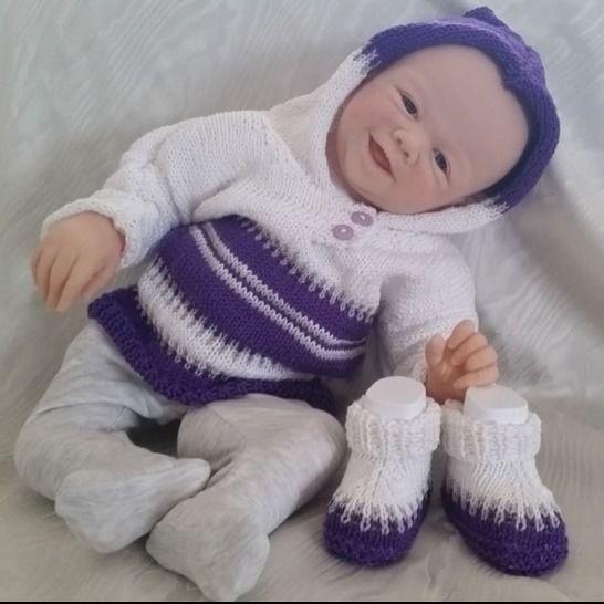 """Strickanleitung - Babyset """"Sophie"""" bei Makerist - Bild 1"""
