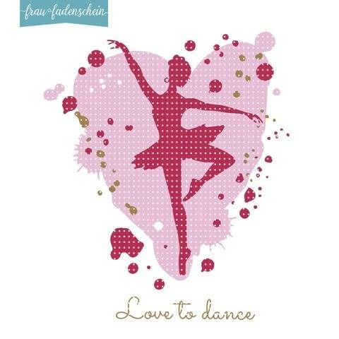 Plotterdatei Ballerina - Love to Dance