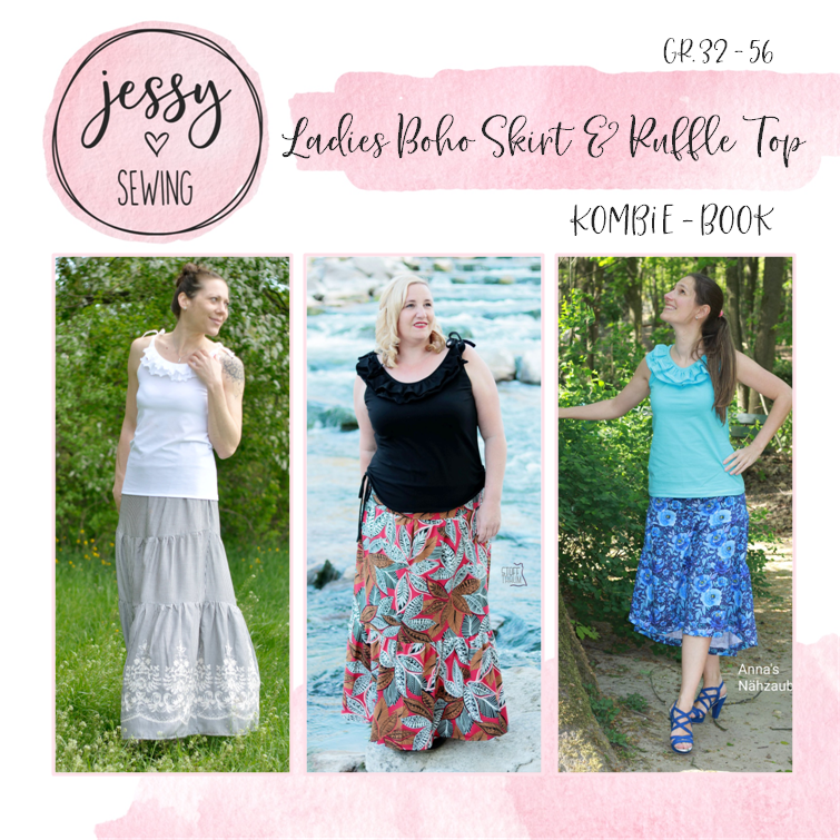 Kombi eBook *Ladies Boho Skirt & Ruffle Top* gr. 32 - 56