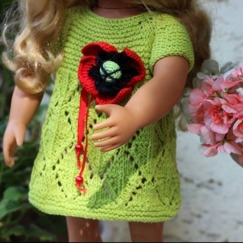 Dolls Dress2 Knitting Pattern