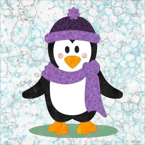 Penguin Promenade Appliqué Block #1 Pattern