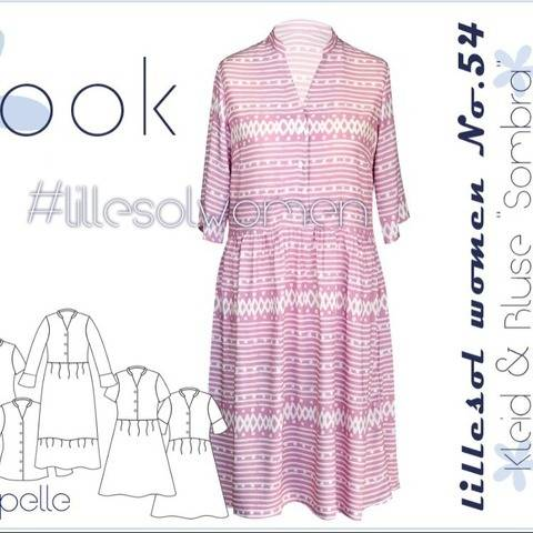 Ebook /Schnittmuster lillesol women No.54 Kleid Sombra