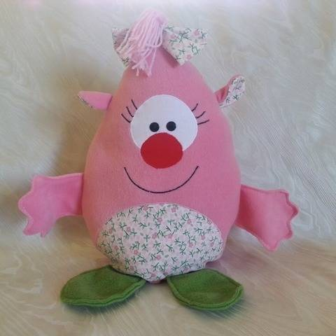 Nähanleitung - Kuschelmonster Pinky