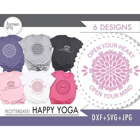 HAPPY YOGA - Plotterdatei  - Design by formenfroh
