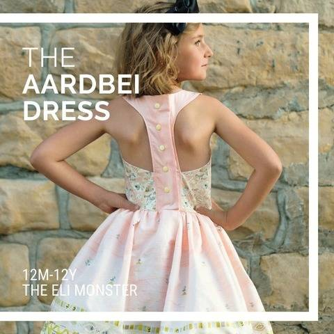 The Aardbei Dress PDF Sewing Pattern, Sized 12m-12y