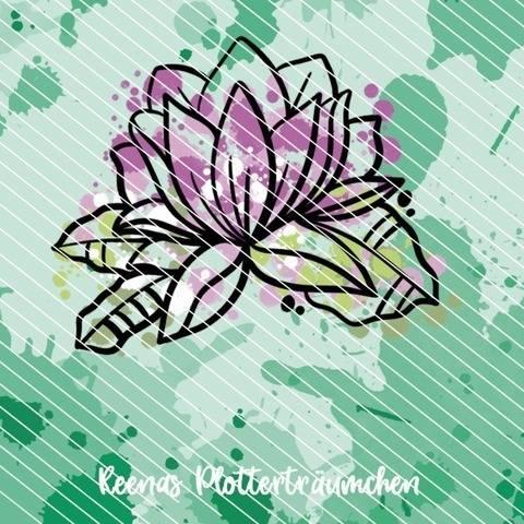 Aquarell Lotus bei Makerist