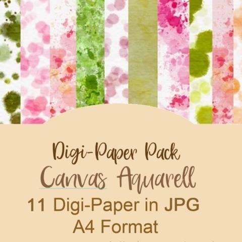 Digipaper Canvas Aquarell