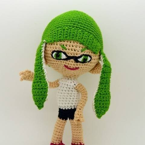 Amigurumi Inklink Girl - Splatoon