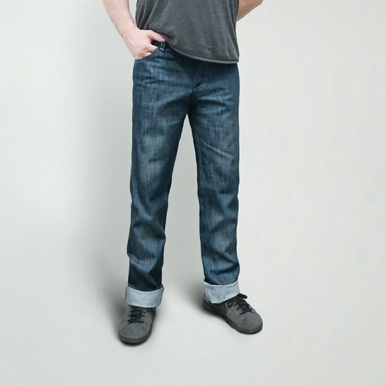 Men's Jeans Sewing Pattern PDF, Button Fly, Jean Sizes 28-38 at Makerist - Image 1
