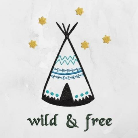 "Stickdatei ""Tipi wild and free"""