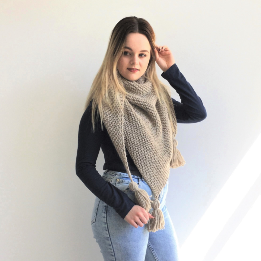 Sand Waves Shawl - Toddler, Child, Adult - Easy