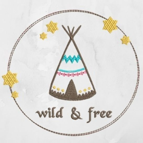 "Appli Stickdatei ""Tipi wild and free""  bei Makerist - Bild 1"