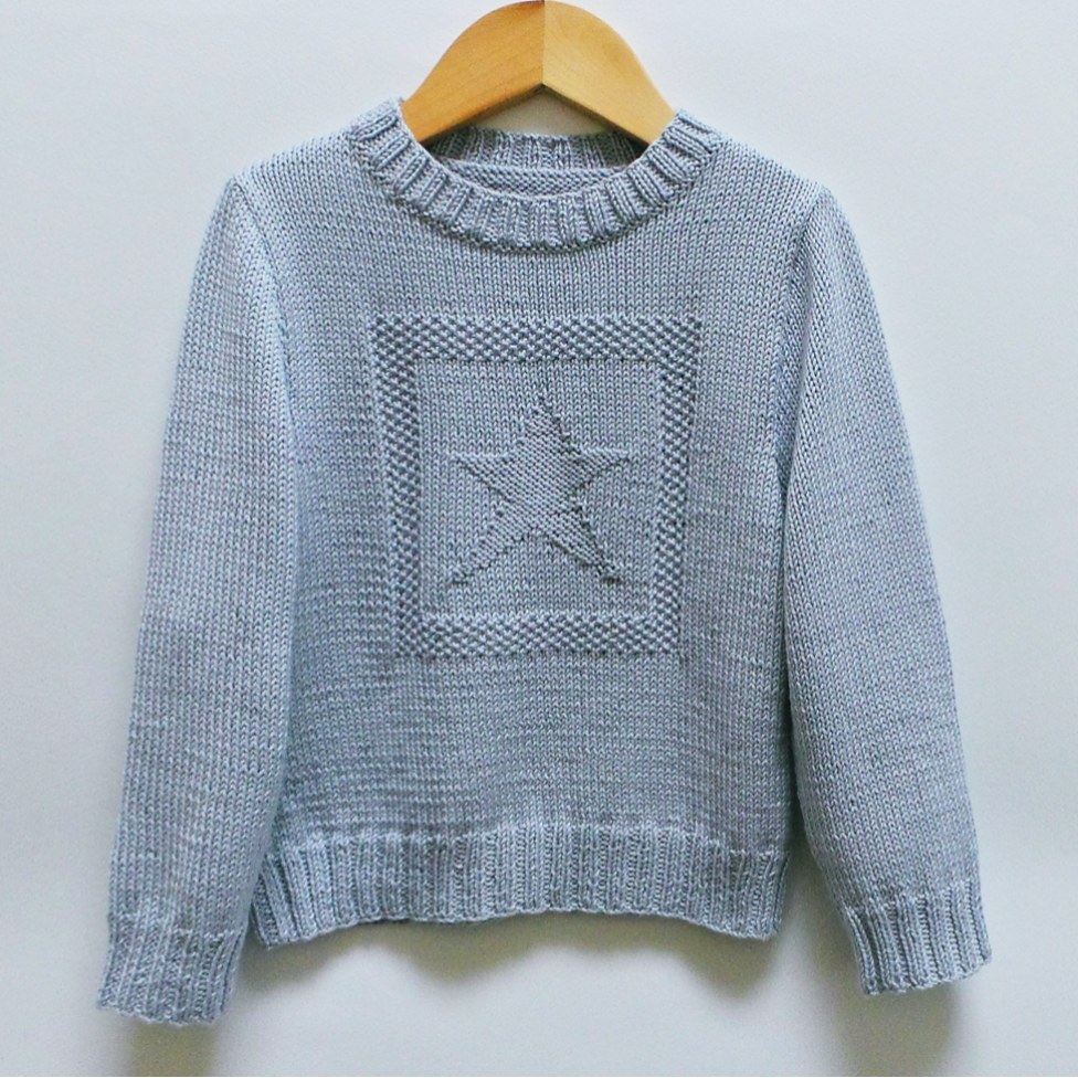 Pull étoile en coton - Tutoriel tricot