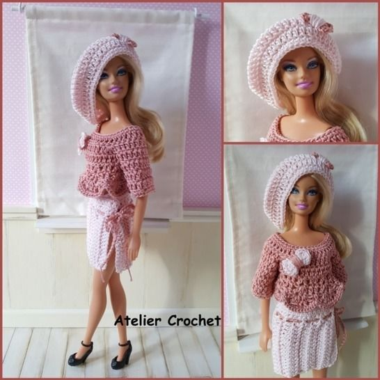 """Alessandra"" crochet pattern for Barbie at Makerist - Image 1"