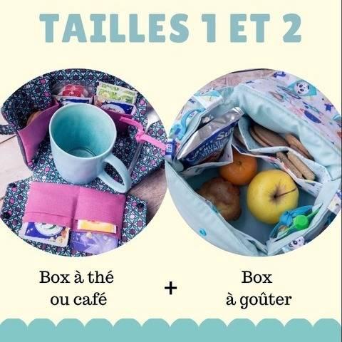 Lily Box à thé + sac à goûter (2 patrons)