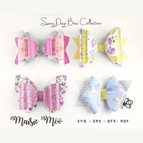 Bow Bundle Template SVG, Spring Bow SVG,
