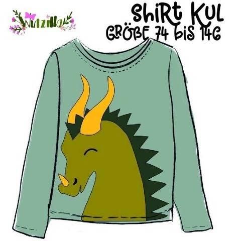 cooles Shirt Kul mit XXL Drachen Applikation
