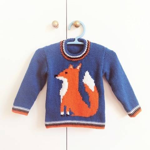 Mr. Fox Sweater Knitting Pattern