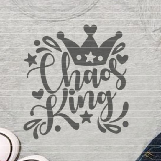 """Cutting file """"chaos king"""" for Ironing-picture SVG DXF at Makerist - Image 1"""