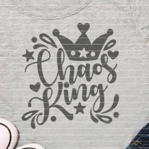 "Cutting file ""chaos king"" for Ironing-picture SVG DXF"