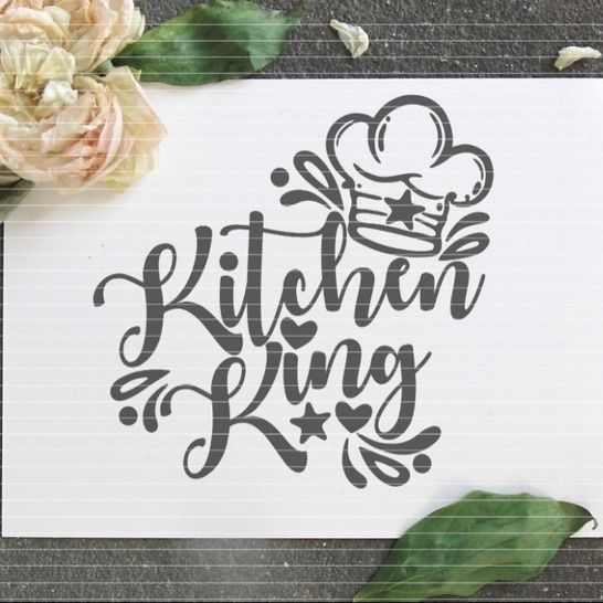 """Cutting file """"kitchen king"""" for Ironing-picture SVG DXF at Makerist - Image 1"""