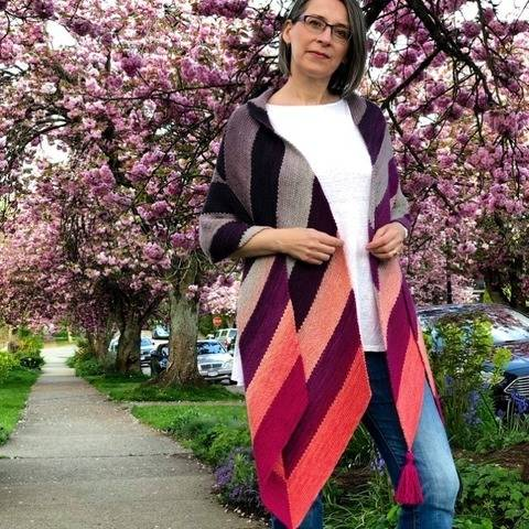 Archer Scarf & Shawl - hand knitting pattern